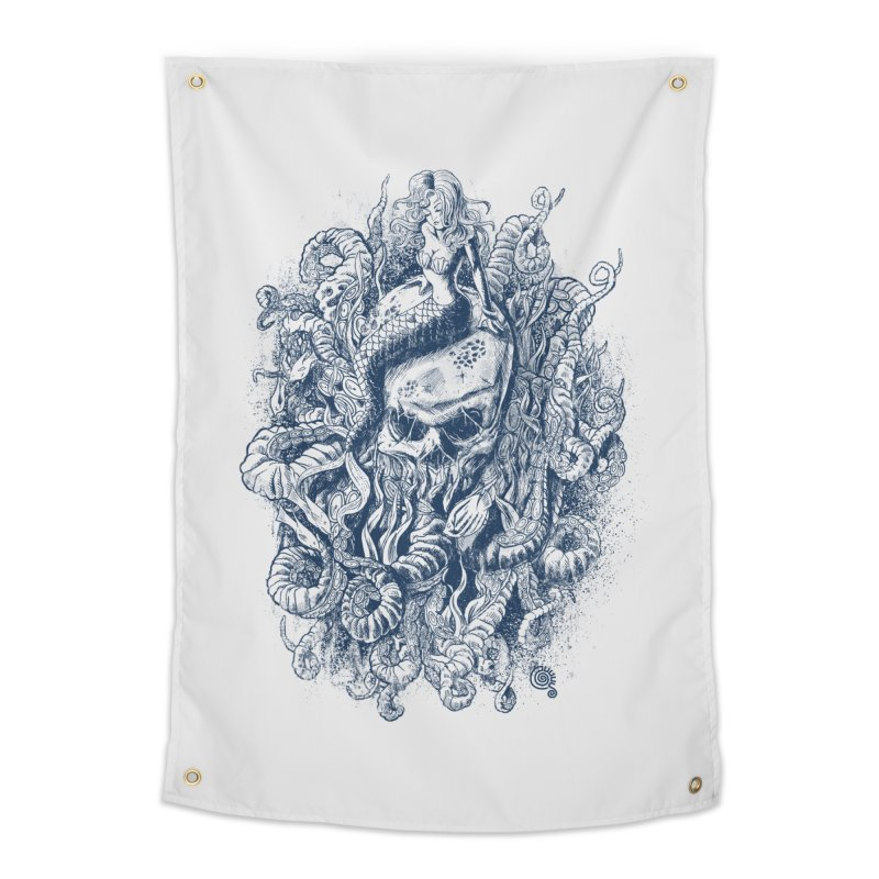 Mermaid of the Deep Home Tapestry by Qetza