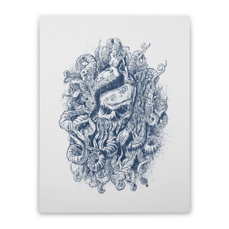 Mermaid of the Deep Home Stretched Canvas by Qetza