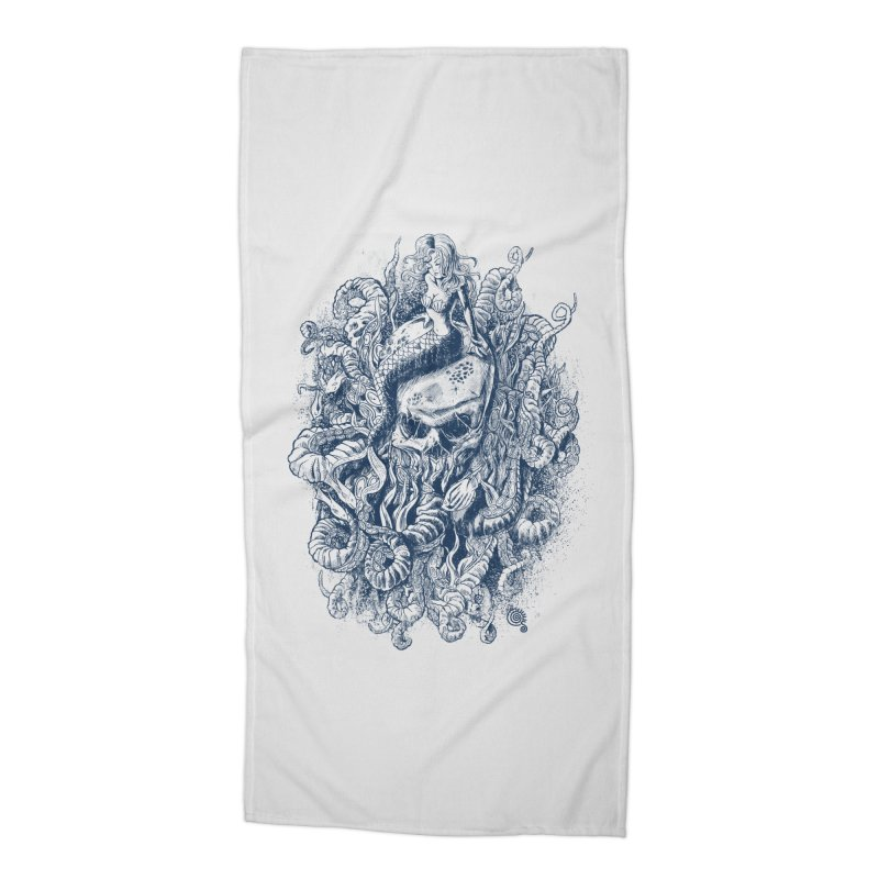 Mermaid of the Deep Accessories Beach Towel by Qetza