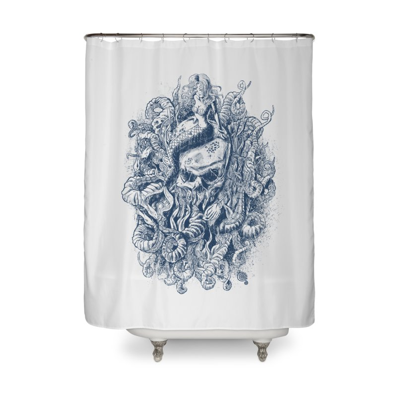 Mermaid of the Deep Home Shower Curtain by Qetza