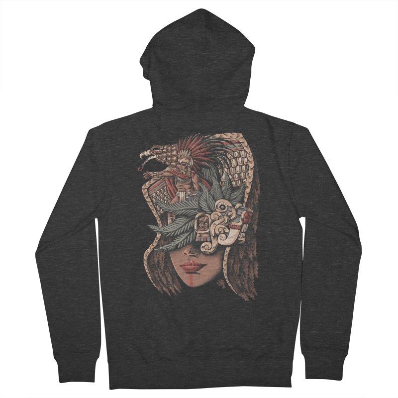 Eagle Warrior Men's Zip-Up Hoody by Qetza
