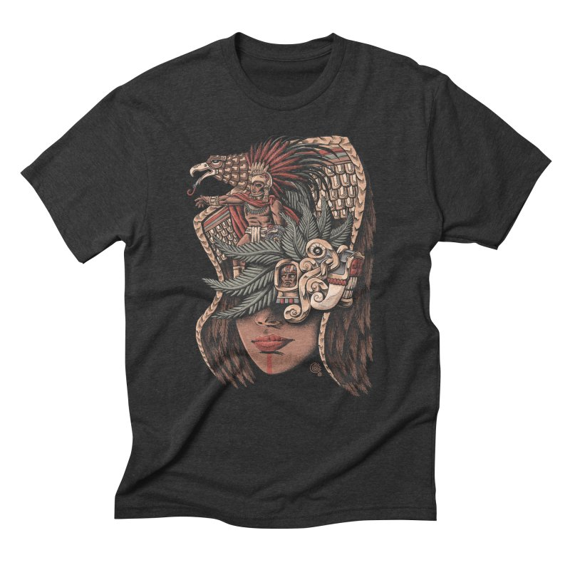 Eagle Warrior Men's Triblend T-shirt by Qetza