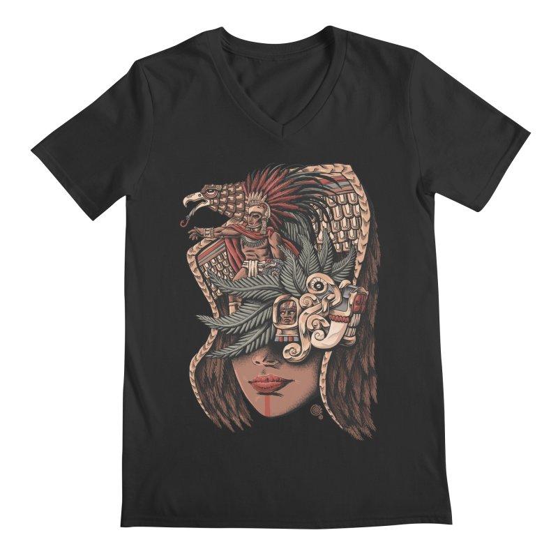 Eagle Warrior Men's V-Neck by Qetza