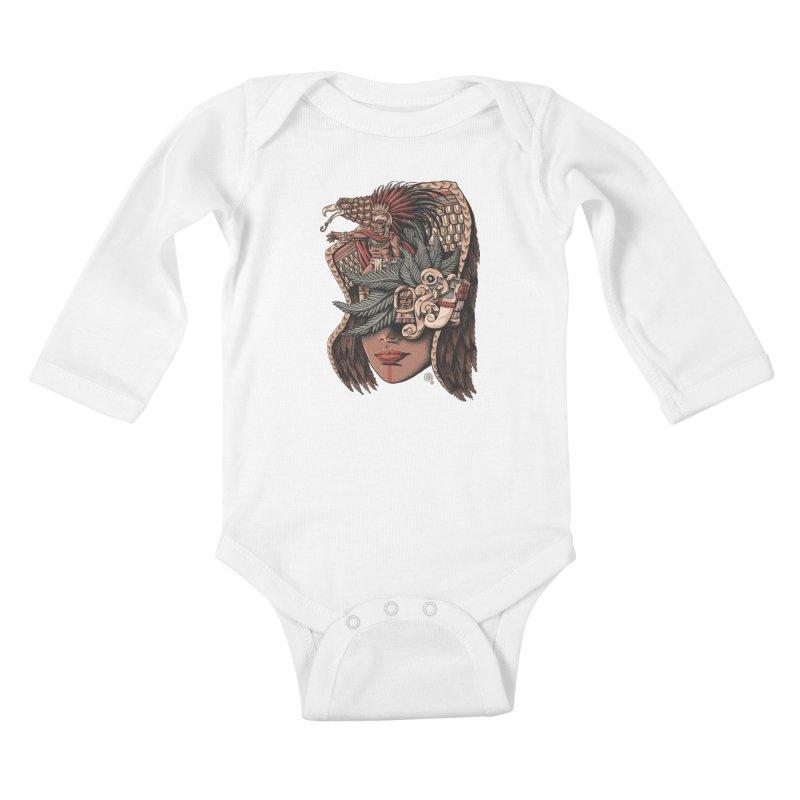 Eagle Warrior Kids Baby Longsleeve Bodysuit by Qetza