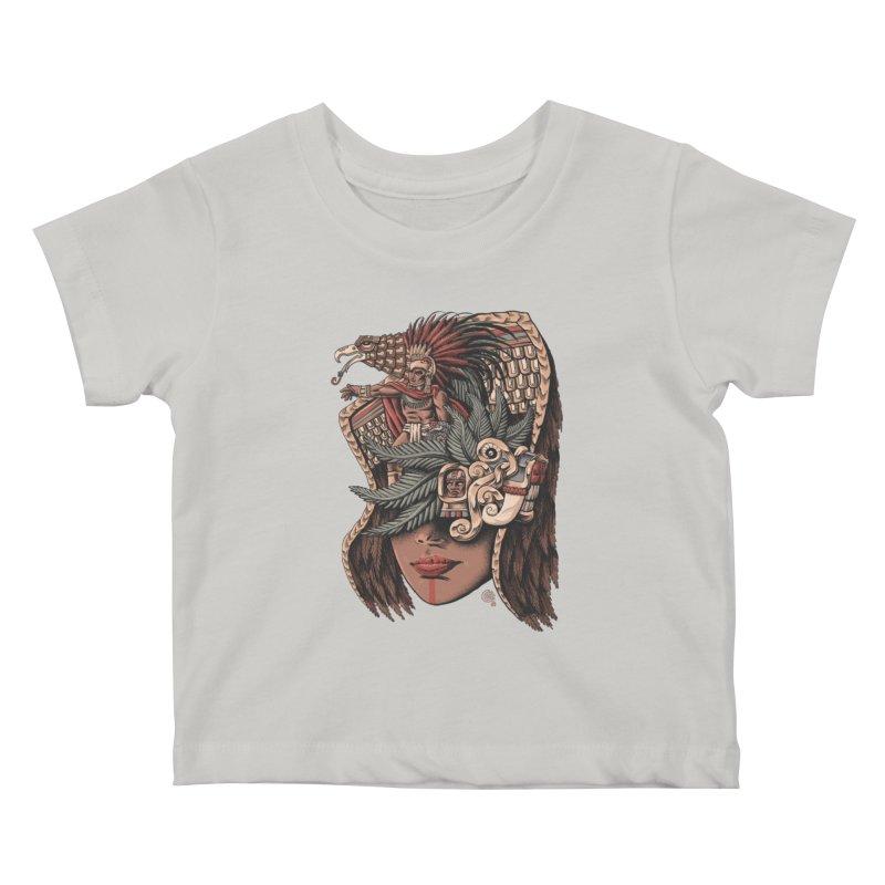 Eagle Warrior Kids Baby T-Shirt by Qetza