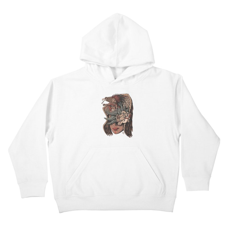 Eagle Warrior Kids Pullover Hoody by Qetza