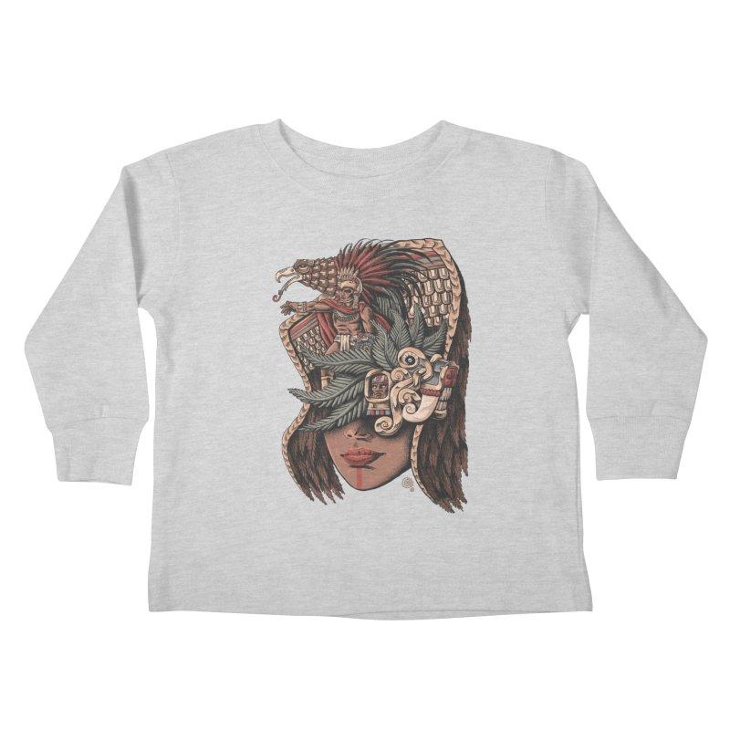 Eagle Warrior Kids Toddler Longsleeve T-Shirt by Qetza