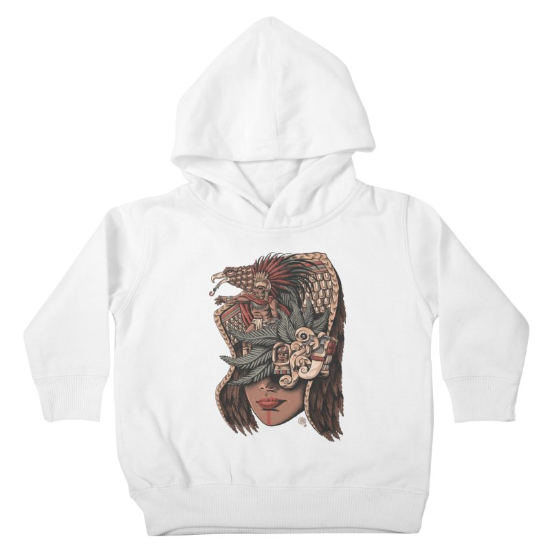 Eagle Warrior Kids Toddler Pullover Hoody by Qetza