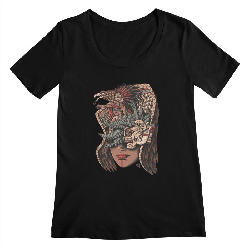 Eagle Warrior Women's Scoopneck by Qetza