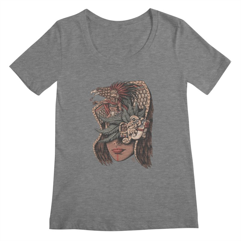 Eagle Warrior Women's Scoopneck by Qetza