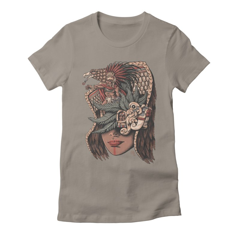 Eagle Warrior Women's Fitted T-Shirt by Qetza