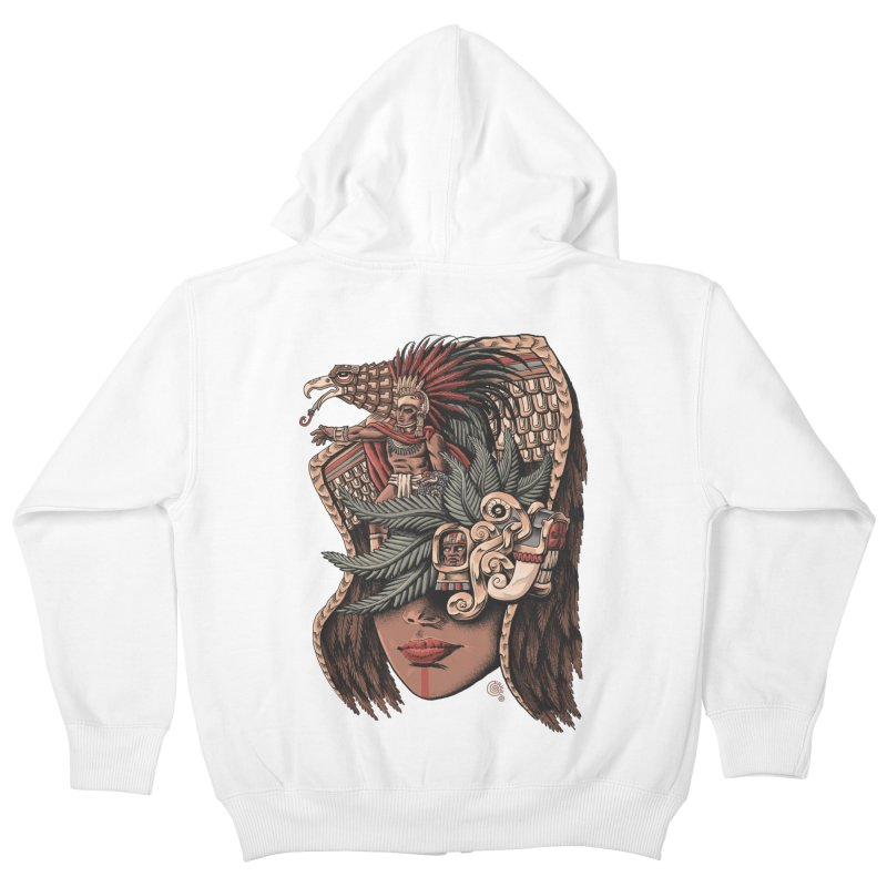 Eagle Warrior Kids Zip-Up Hoody by Qetza