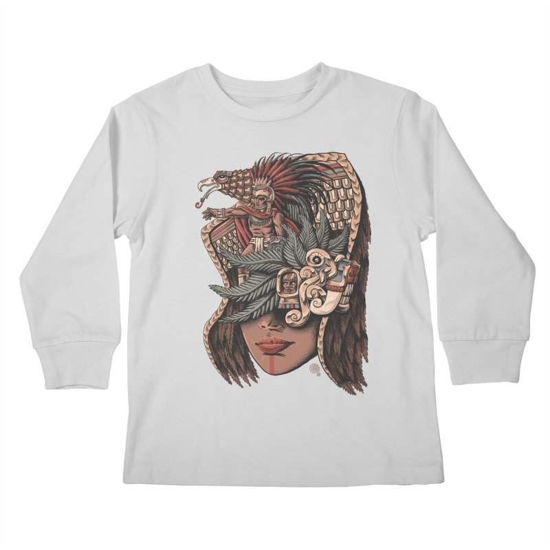 Eagle Warrior Kids Longsleeve T-Shirt by Qetza
