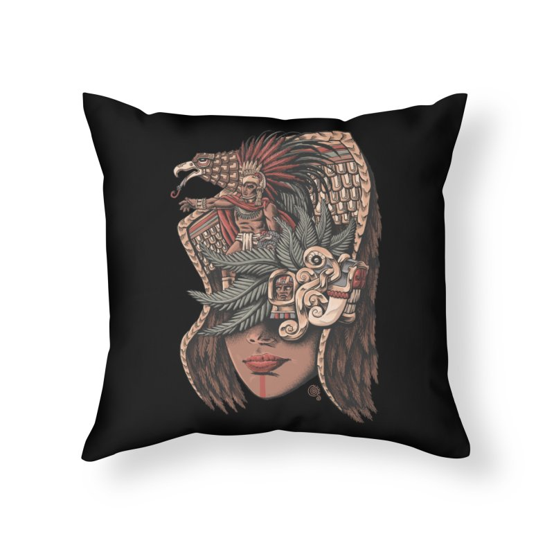 Eagle Warrior Home Throw Pillow by Qetza