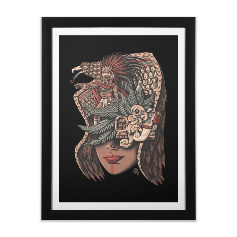 Eagle Warrior Home Framed Fine Art Print by Qetza