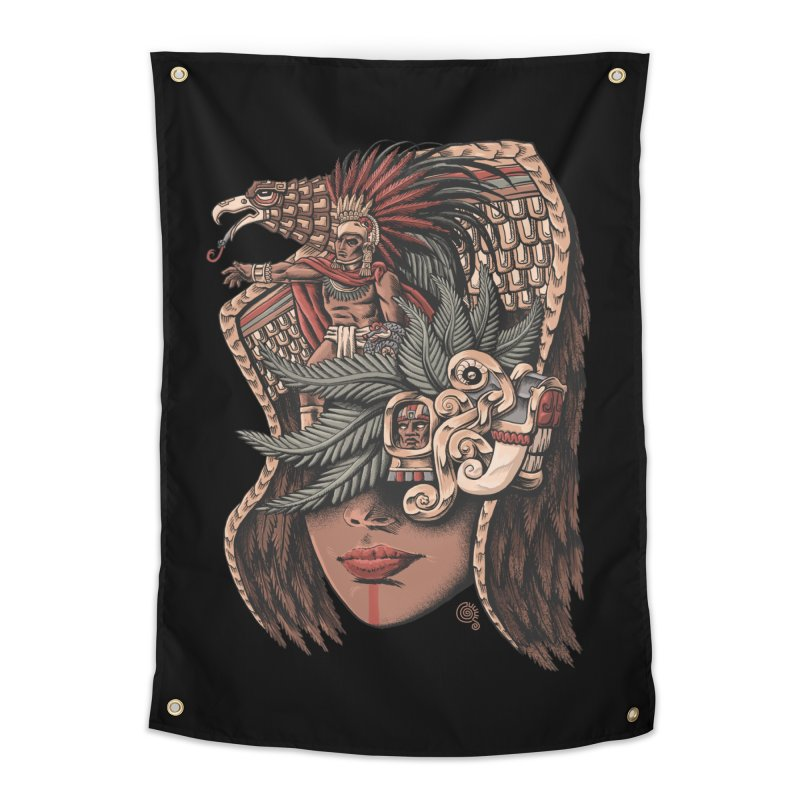 Eagle Warrior Home Tapestry by Qetza