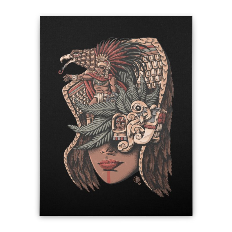 Eagle Warrior Home Stretched Canvas by Qetza
