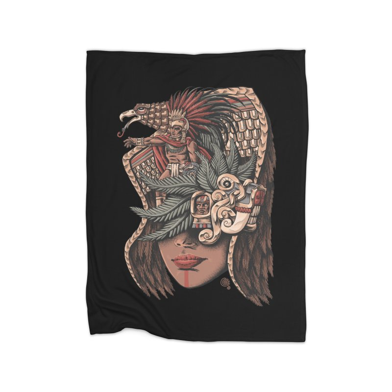 Eagle Warrior Home Blanket by Qetza