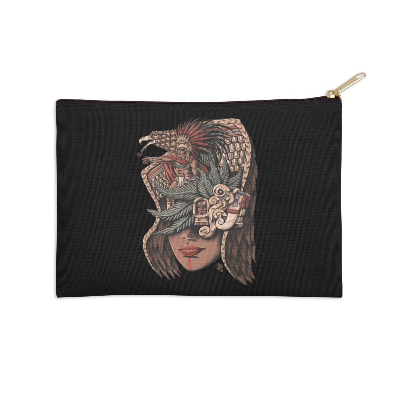 Eagle Warrior Accessories Zip Pouch by Qetza