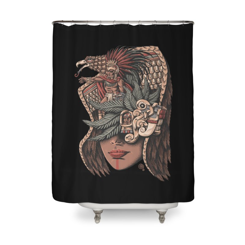 Eagle Warrior Home Shower Curtain by Qetza