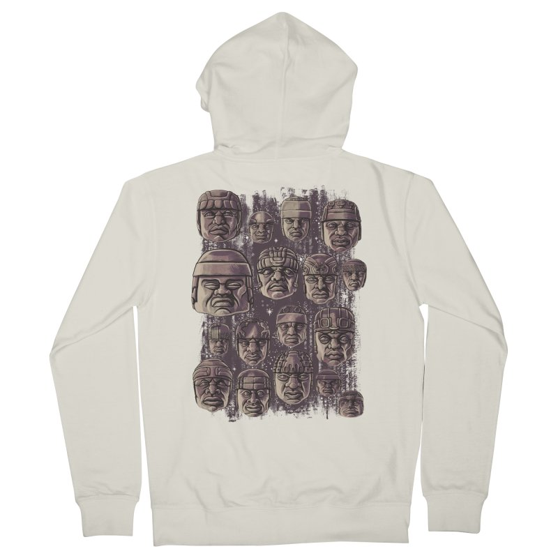 Ancient Olmecs Women's Zip-Up Hoody by Qetza