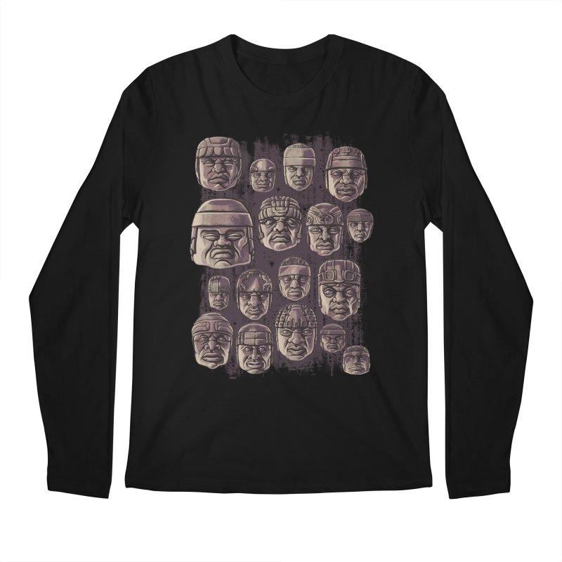 Ancient Olmecs Men's Longsleeve T-Shirt by Qetza