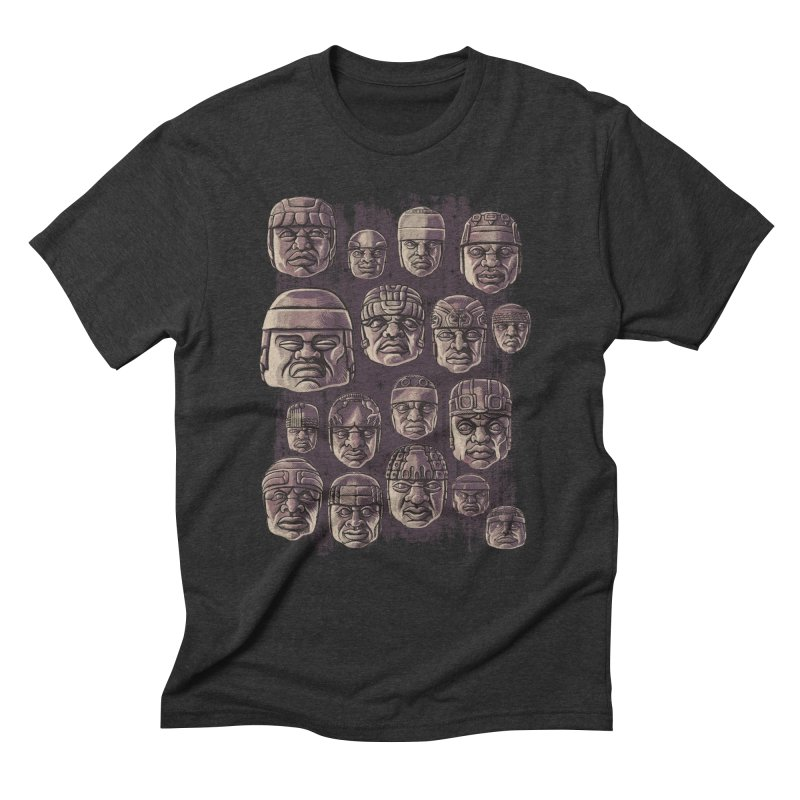Ancient Olmecs Men's Triblend T-shirt by Qetza