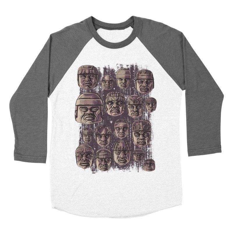 Ancient Olmecs Women's Baseball Triblend T-Shirt by Qetza