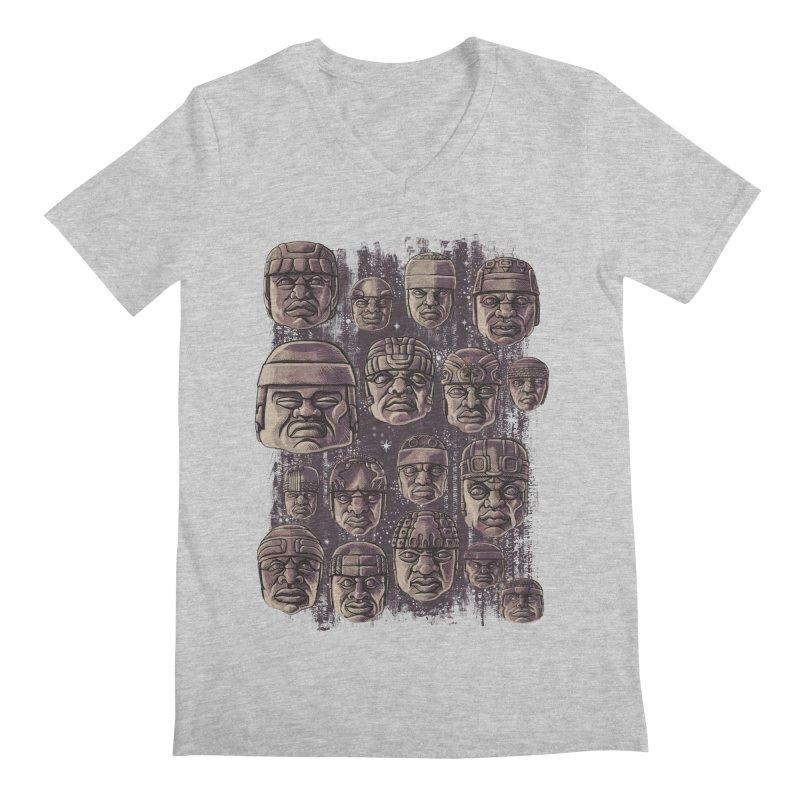 Ancient Olmecs Men's V-Neck by Qetza
