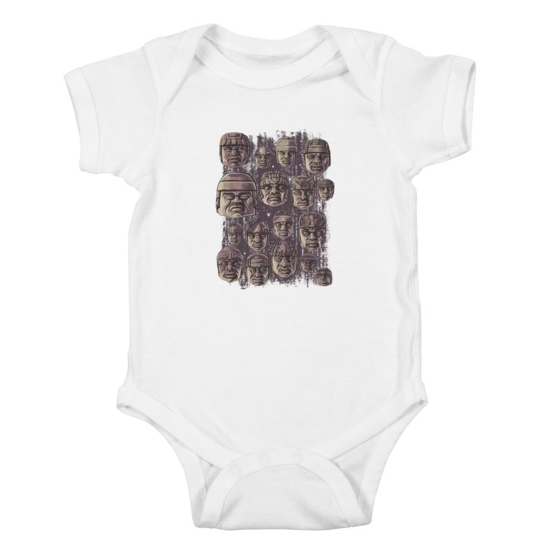 Ancient Olmecs Kids Baby Bodysuit by Qetza