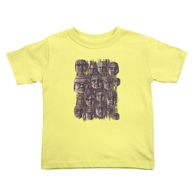Ancient Olmecs Kids Toddler T-Shirt by Qetza