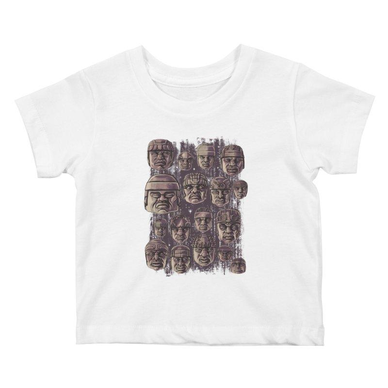 Ancient Olmecs Kids Baby T-Shirt by Qetza