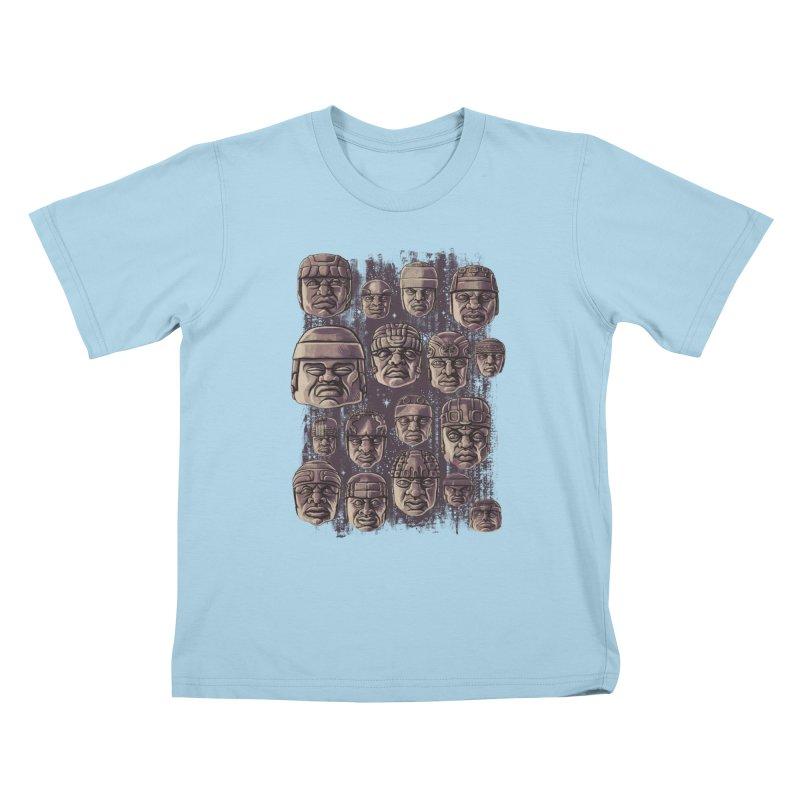 Ancient Olmecs Kids T-Shirt by Qetza