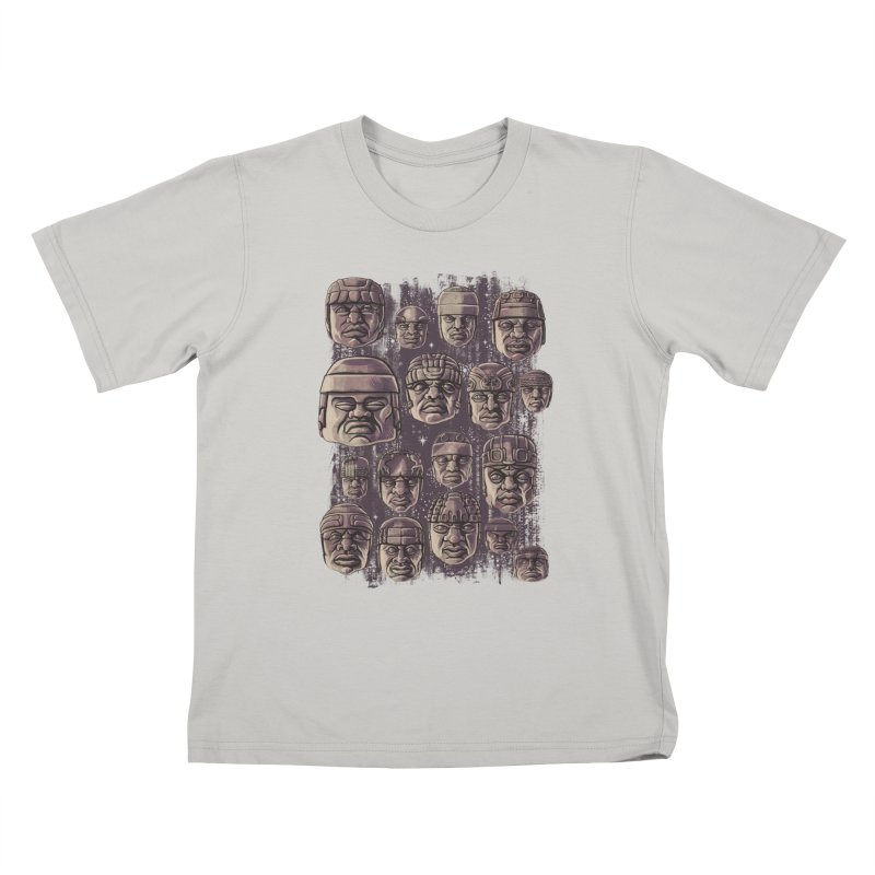 Ancient Olmecs Kids T-shirt by Qetza