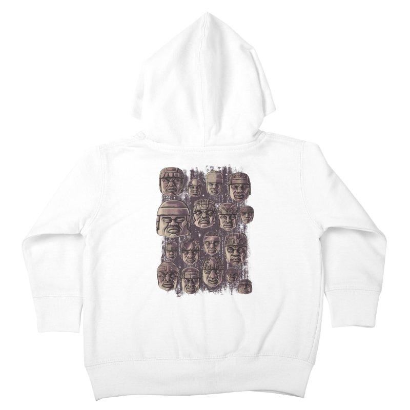 Ancient Olmecs Kids Toddler Zip-Up Hoody by Qetza
