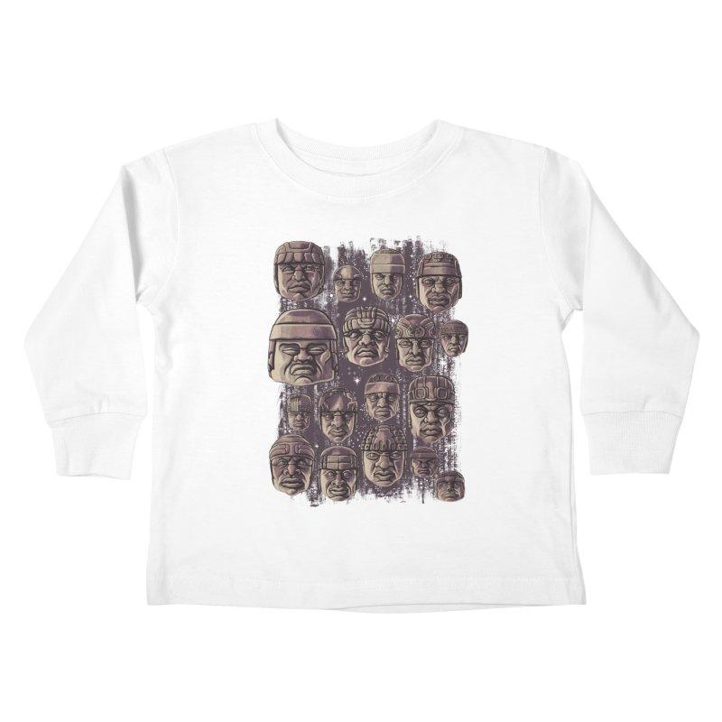 Ancient Olmecs Kids Toddler Longsleeve T-Shirt by Qetza