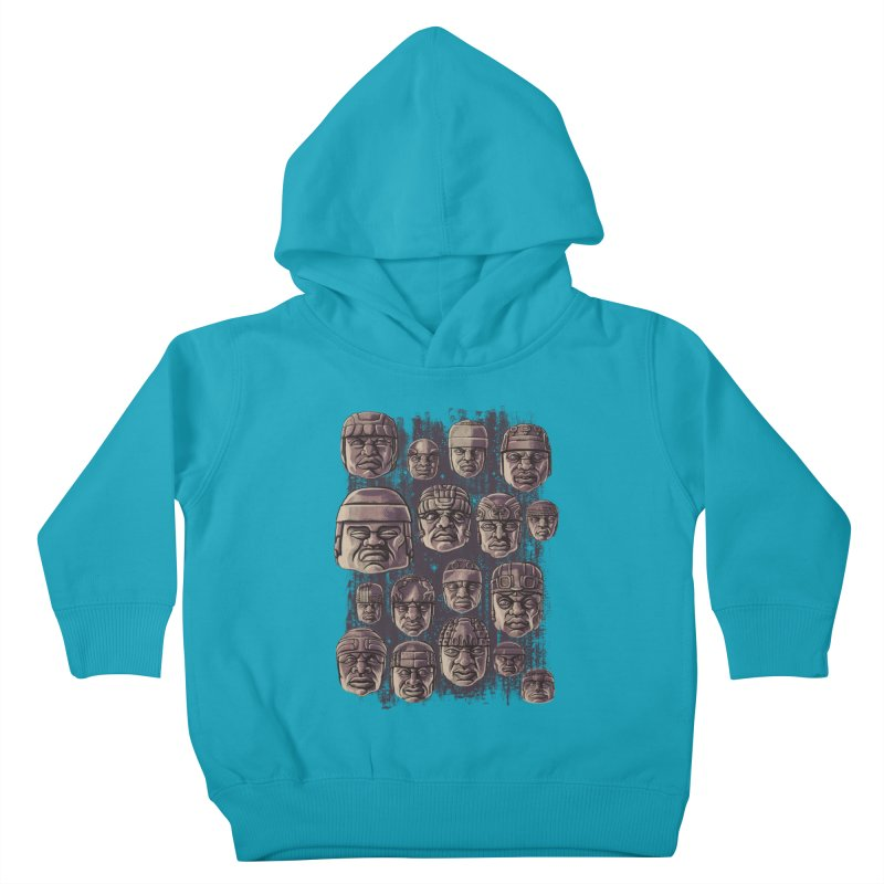Ancient Olmecs Kids Toddler Pullover Hoody by Qetza