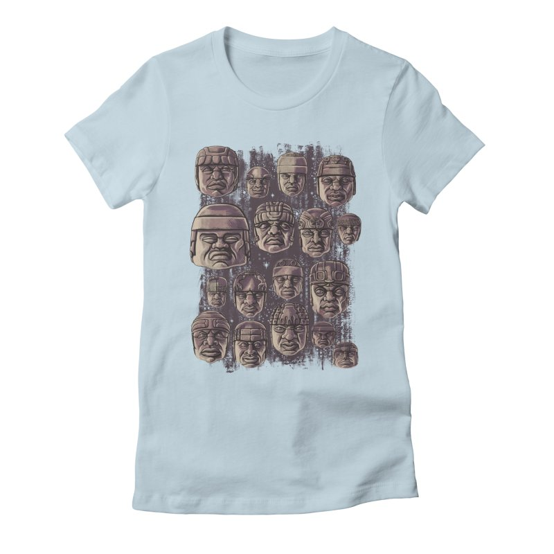 Ancient Olmecs Women's Fitted T-Shirt by Qetza