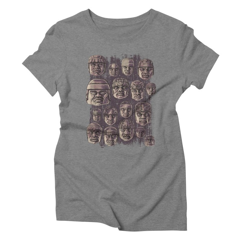 Ancient Olmecs Women's Triblend T-shirt by Qetza