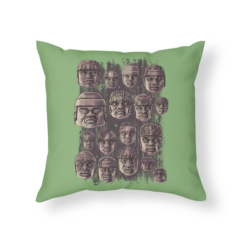 Ancient Olmecs Home Throw Pillow by Qetza