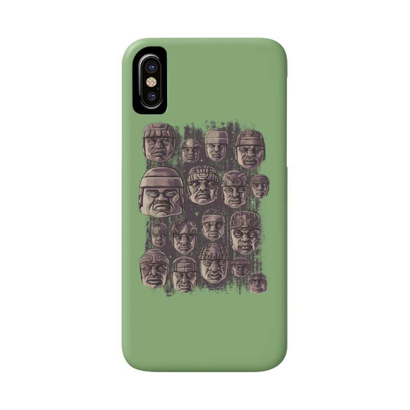 Ancient Olmecs Accessories Phone Case by Qetza