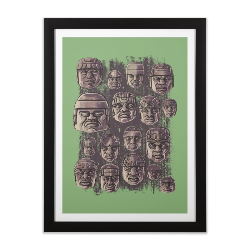 Ancient Olmecs Home Framed Fine Art Print by Qetza