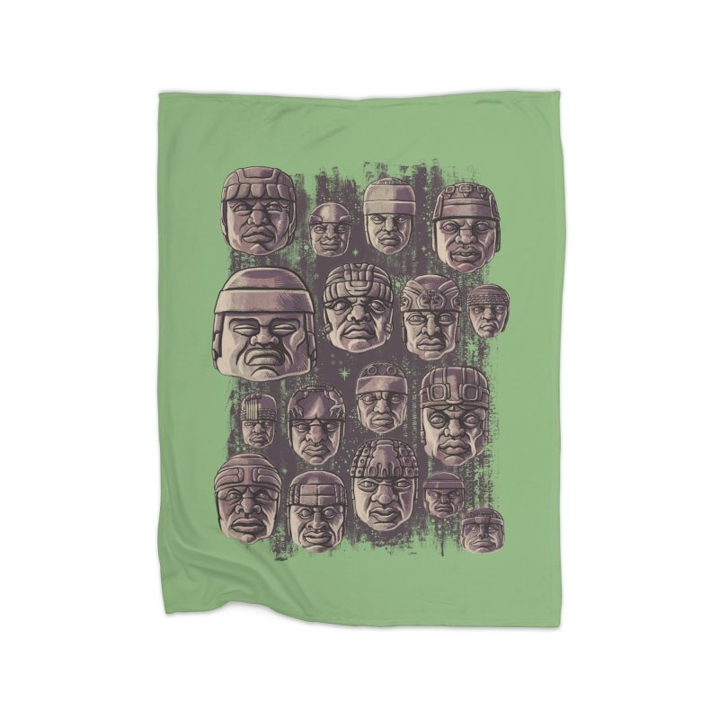Ancient Olmecs Home Blanket by Qetza