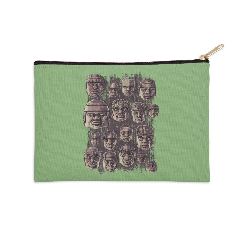 Ancient Olmecs Accessories Zip Pouch by Qetza