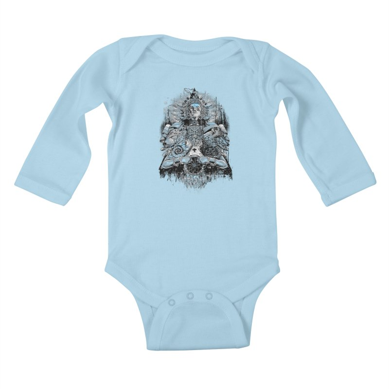 Spirit Dreams Kids Baby Longsleeve Bodysuit by Qetza