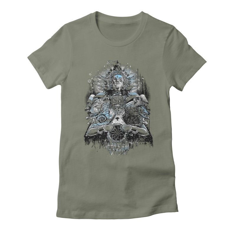 Spirit Dreams Women's Fitted T-Shirt by Qetza