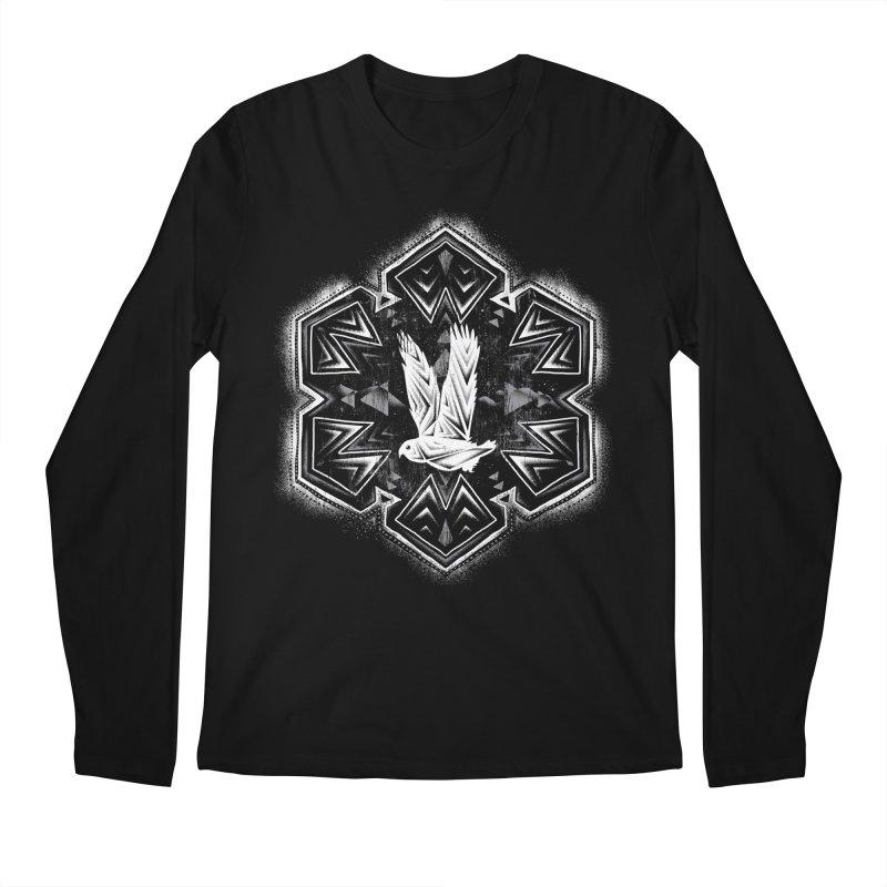 Snow Owl Men's Longsleeve T-Shirt by Qetza