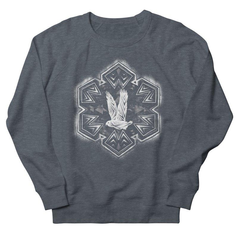 Snow Owl Men's Sweatshirt by Qetza