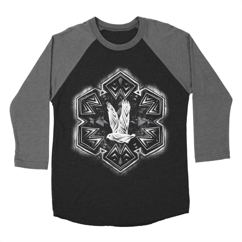 Snow Owl Women's Baseball Triblend T-Shirt by Qetza