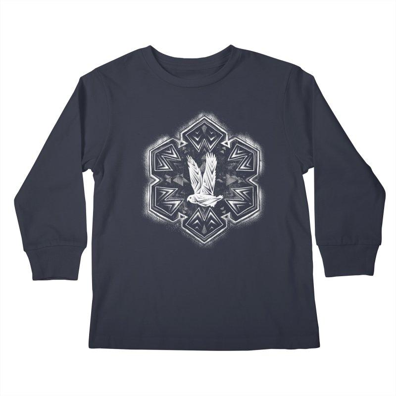 Snow Owl Kids Longsleeve T-Shirt by Qetza